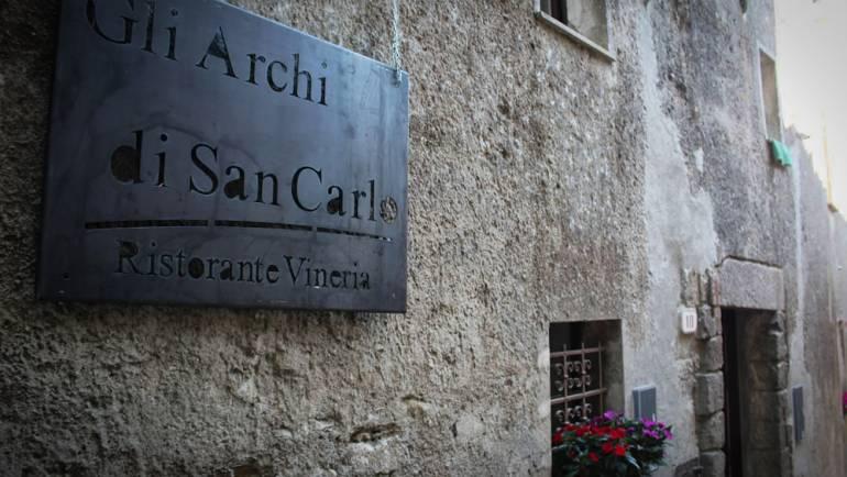 I nostri Vini da Gli Archi di San Carlo